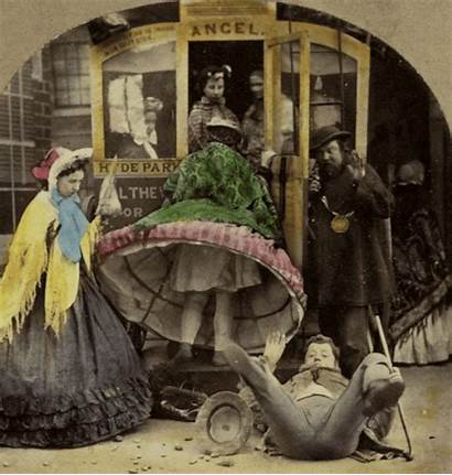 Stereoview Comedic Colored Animated Victorian Revoltedstates 1860