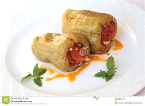 hache de cuisine cuisine turque dolma boeuf haché et poivrons bourrés de