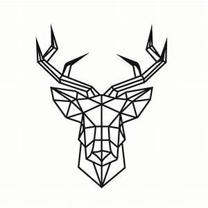 Simple Creative Geometric Deer Head Pattern Wall Sticker