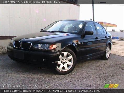 Jet Black  2002 Bmw 3 Series 325xi Sedan  Black Interior