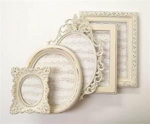 Bilderrahmen Vintage Set : shabby chic rahmen bilderrahmen set aufw ndige felder ivory vintage wedding decor home decor ~ Buech-reservation.com Haus und Dekorationen