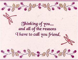 Friendship Greetings: Thinking Of You My Friend