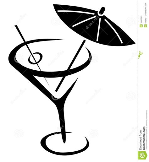 mixed drink clipart black and clipart martini glass