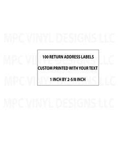 return address labels printed     personalized