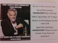 funny mandatory meeting flyers
