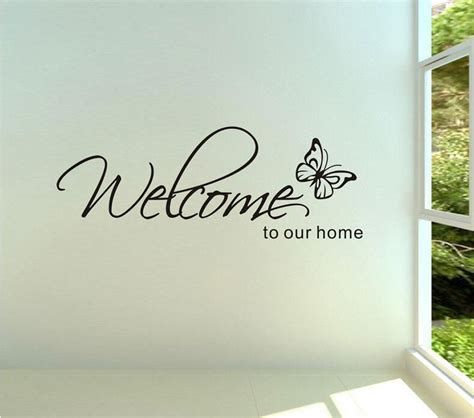 stickers muraux home decor welcome to our home text patterns wall stickers home decor living