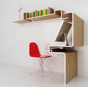 Meuble Deco Design : meuble bureau etagere 3 blog d co design ~ Teatrodelosmanantiales.com Idées de Décoration