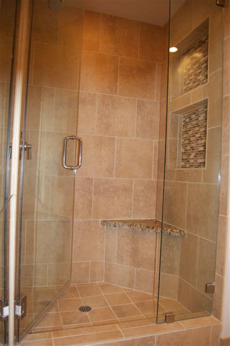 shower nooks  closet shower traditional bathroom