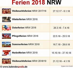 Ferien Nrw 2018 19 : ferien nordrhein westfalen nrw 2018 bersicht der ferientermine ~ Buech-reservation.com Haus und Dekorationen