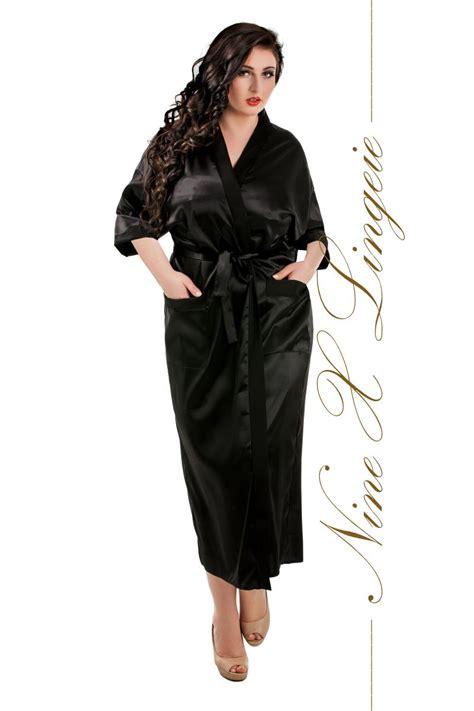 peignoir robe de chambre nine x robe de chambre longue en satin s m l xl 2xl 3xl