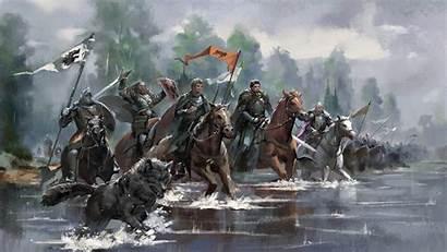 Stark Armies Artwork War King Tronos Casa