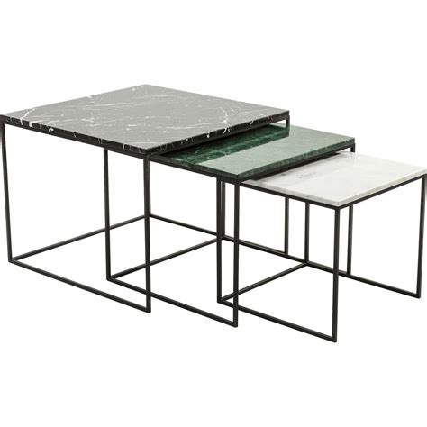 marble nesting tables nest of marble top coffee tables i retro 4021