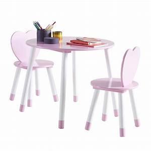 Table Enfant Avec Chaise : les tendances table et 2 chaises en bois blanc et rose princess ~ Teatrodelosmanantiales.com Idées de Décoration