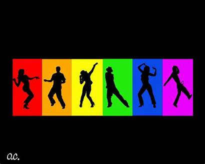 Dance Zumba Clip Clipart Dancer Rainbow Fitness