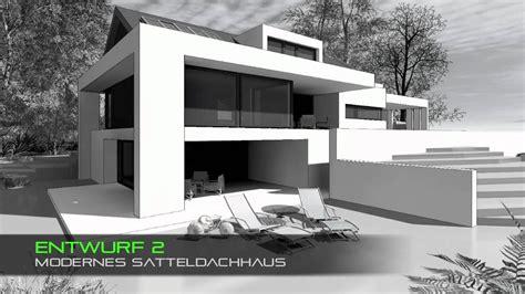 Haus Mit Satteldach Moderne Architektur  Youtube Ideas