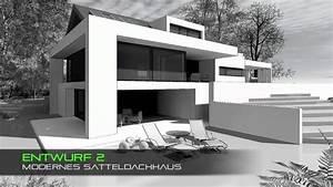 Moderne Häuser Mit Satteldach : haus mit satteldach moderne architektur youtube ideas ~ Lizthompson.info Haus und Dekorationen