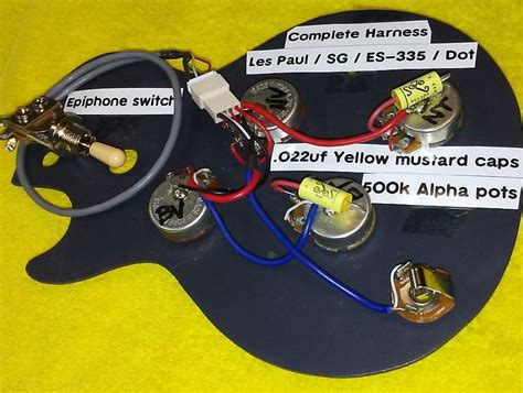 Wiring Harnes For Epiphone Dot 335 by Wiring Harness For Lp Es 335 Sg Dot Style Guitars W