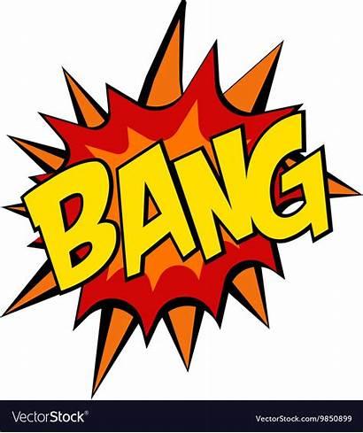 Bang Explosion Pop Cartoon Comic Vector Retro