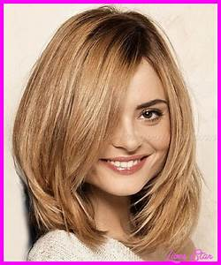 Medium Length Layered Haircut Round Face