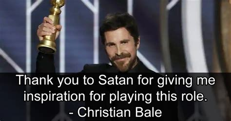 Conservatives Are Upset That Christian Bale Thanked Satan