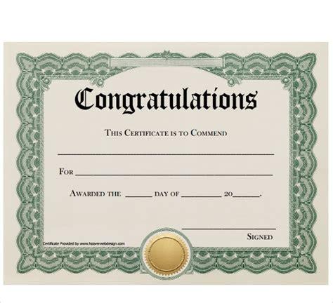 sample congratulations certificate  documents