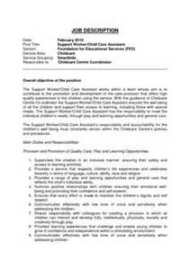 child care worker resume child care description for resume sles of resumes