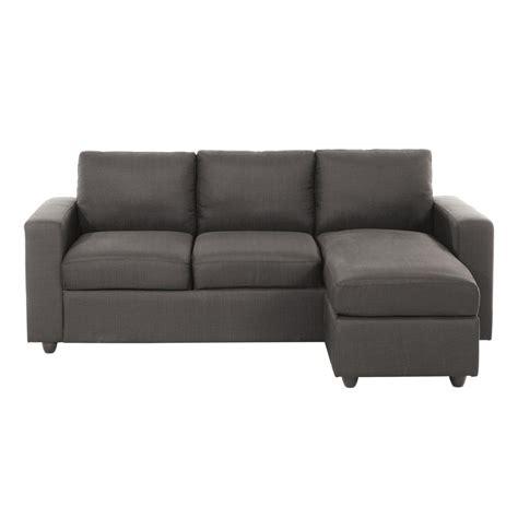 canapé d 39 angle 3 places en tissu gris jules maisons du monde