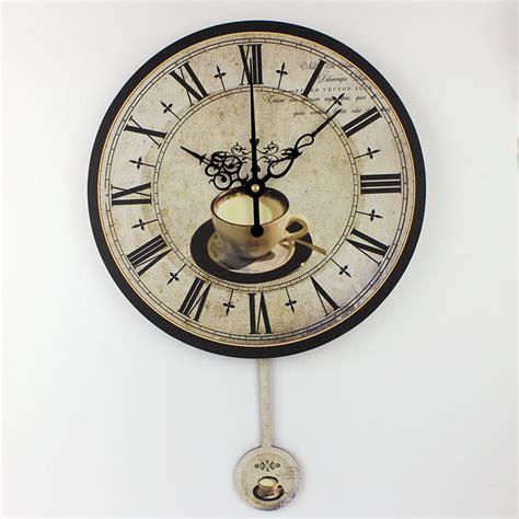 modern coffee large decorative wall clocks mute home