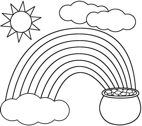 rainbow coloring page kids dream  rainbows  pots