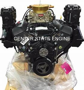 New 4 3l  V6 Vortec Gm Marine Complete Base Engine With Exhaust