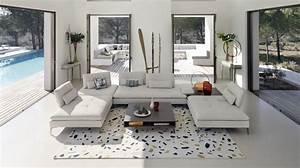 scenario 3 seat sofa large roche bobois With canape angle cuir roche bobois