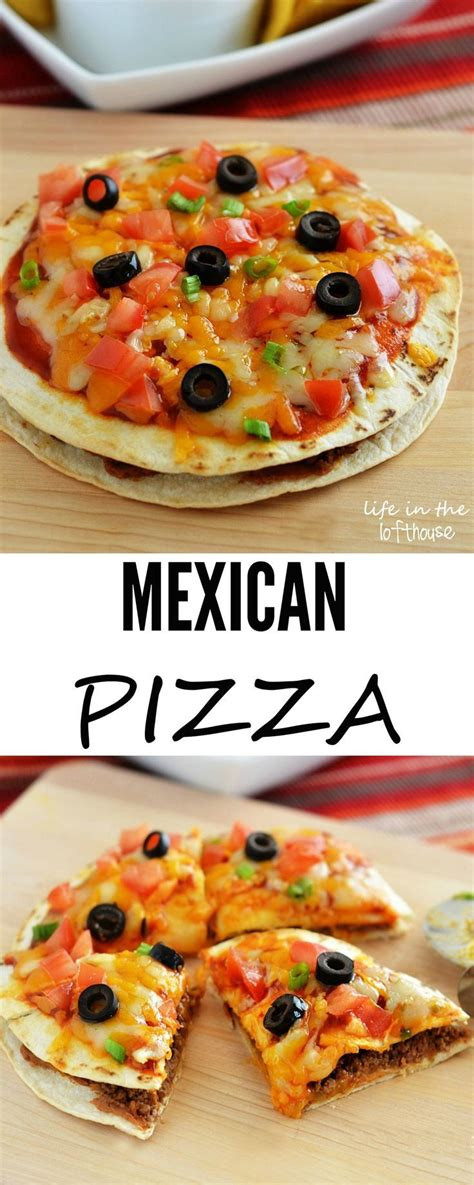 Mexican Pizza Recipe Dinner Invitations Pizza And The