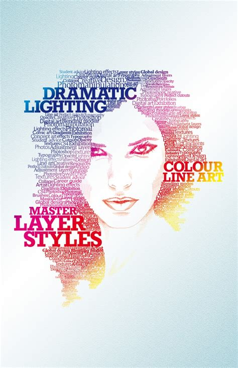 typographic portrait by stacey grove advanced photoshop