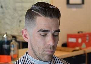 skin fade pompadour with side part - Mens Hairstyles Club