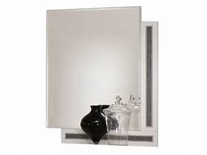 miroir tess chambre a coucher blanc brillant With miroir chambre a coucher