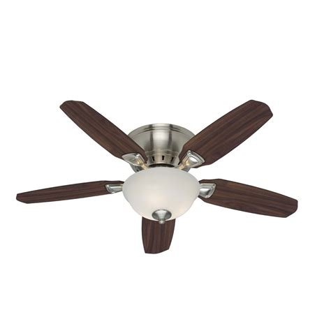 flush mount ceiling fans for small rooms shop small room 5 minute 46 in brushed nickel flush