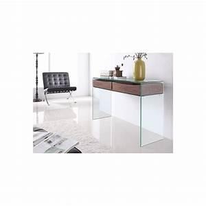 Console En Verre : console en verre bois crystalwood 120cm naturel ~ Teatrodelosmanantiales.com Idées de Décoration