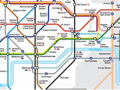 London Tube Map on the...