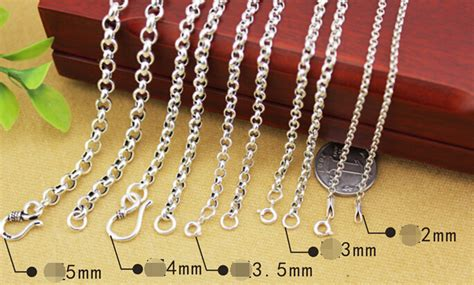3mm Thickness 925 Sterling Silver Circled Necklace Chain