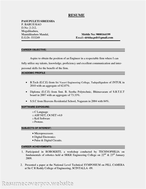 Career Objective In Resume Sle 25 einzigartige career objectives for resume ideen auf