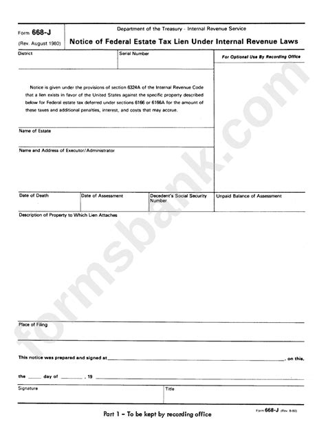 form internal tax notice lien federal revenue laws estate under service pdf advertisement data printable