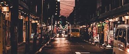 Tokyo Street Streets Wallpapers Ultrawide Night 1440