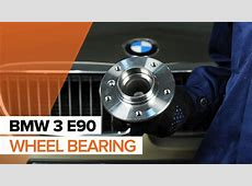 How to replace Front wheel bearing on BMW 3 E90 TUTORIAL
