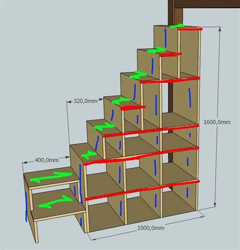 escalier etagere pour mezzanine sedgu