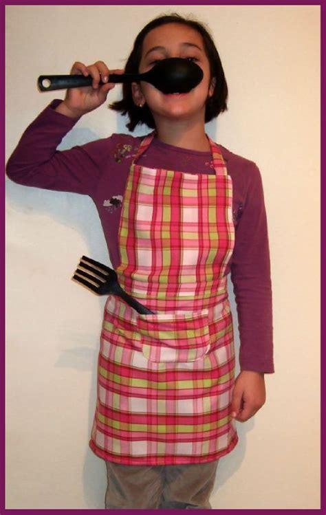 je de cuisine pour fille gratuit tablier de cuisine 8 ans titella créations couture