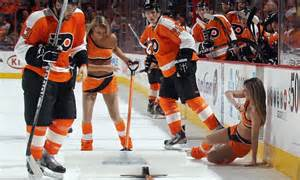philadelphia flyers fans   teams scantily clad
