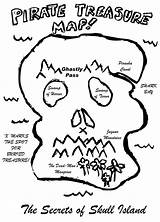 Treasure Coloring Map Skull Colouring Shaped Clip Sheet Library Popular sketch template