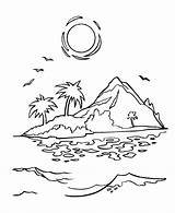 Sunrise Drawing Coloring Sunset Pages Mountain Drawings Getdrawings sketch template