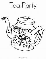 Tea Coloring Party Noodle Teapot Twisty Service sketch template