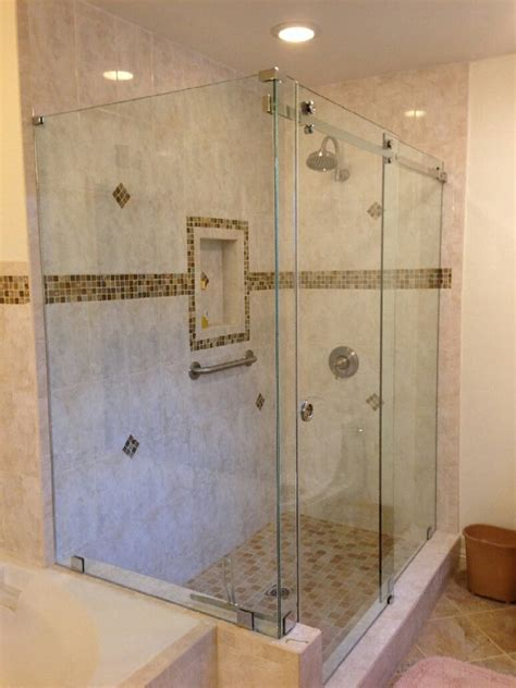 Tempered Glass Shower Doors Frameless by 3 8 Quot Clear Tempered Glass Frameless Serenity Series